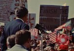 Image of Richard Nixon speaks to automobile workers during energy crisis Saginaw Michigan USA, 1974, second 8 stock footage video 65675073721