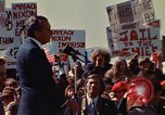 Image of Richard Nixon speaks to crowd Saginaw Michigan USA, 1974, second 2 stock footage video 65675073722