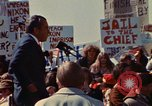 Image of Richard Nixon speaks to crowd Saginaw Michigan USA, 1974, second 6 stock footage video 65675073722