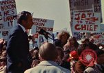 Image of Richard Nixon speaks to crowd Saginaw Michigan USA, 1974, second 7 stock footage video 65675073722