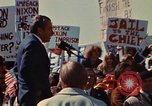 Image of Richard Nixon speaks to crowd Saginaw Michigan USA, 1974, second 9 stock footage video 65675073722
