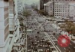 Image of demonstrators Washington DC USA, 1969, second 10 stock footage video 65675073765