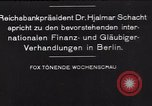Image of Hjalmar Schacht Berlin Germany, 1935, second 4 stock footage video 65675073780