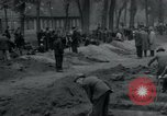 Image of German civilians bury Wobbelin victims Ludwigslust Germany, 1945, second 12 stock footage video 65675073877
