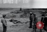Image of unburied bodies of victims Germany, 1945, second 1 stock footage video 65675073912