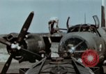 Image of B-26 Marauder bombers refueled and departing on mission Germany, 1945, second 10 stock footage video 65675073921