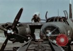 Image of B-26 Marauder bombers refueled and departing on mission Germany, 1945, second 11 stock footage video 65675073921