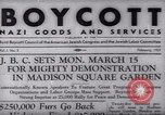 Image of Boycott Campaign Flyer New York City USA, 1937, second 4 stock footage video 65675073930