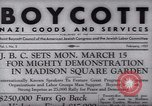 Image of Boycott Campaign Flyer New York City USA, 1937, second 8 stock footage video 65675073930