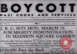 Image of Boycott Campaign Flyer New York City USA, 1937, second 10 stock footage video 65675073930