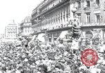 Image of French crowd Paris France, 1945, second 1 stock footage video 65675074010