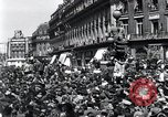 Image of French crowd Paris France, 1945, second 2 stock footage video 65675074010