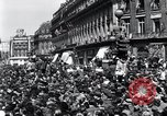 Image of French crowd Paris France, 1945, second 3 stock footage video 65675074010