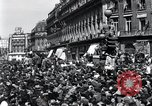 Image of French crowd Paris France, 1945, second 4 stock footage video 65675074010