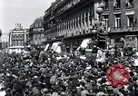Image of French crowd Paris France, 1945, second 5 stock footage video 65675074010
