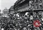 Image of French crowd Paris France, 1945, second 6 stock footage video 65675074010