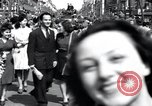 Image of French crowd Paris France, 1945, second 7 stock footage video 65675074011