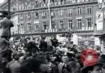 Image of French crowd Paris France, 1945, second 4 stock footage video 65675074012
