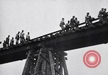 Image of damaged bridge Dirschau Poland, 1939, second 11 stock footage video 65675074063