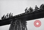 Image of damaged bridge Dirschau Poland, 1939, second 12 stock footage video 65675074063