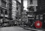 Image of Mott Street and Pell in Chinatown New York City USA, 1939, second 2 stock footage video 65675074109