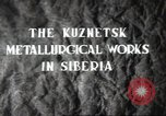 Image of Kuznetsk Metallurgical plant Siberia Soviet Union, 1947, second 4 stock footage video 65675074202