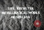 Image of Kuznetsk Metallurgical plant Siberia Soviet Union, 1947, second 5 stock footage video 65675074202