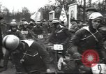 Image of motorcycle race Moscow Russia Soviet Union, 1947, second 11 stock footage video 65675074216
