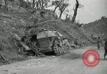 Image of wrecked German equipment Esperia Italy, 1944, second 10 stock footage video 65675074260