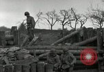 Image of Advancing U.S. forces destroy enemy roadblock Oberleuken Germany, 1945, second 12 stock footage video 65675074268