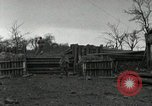 Image of Advancing U.S. forces destroy enemy roadblock Oberleuken Germany, 1945, second 21 stock footage video 65675074268