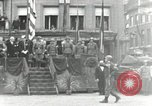 Image of Troops of US 2nd Armored Division parade in Belgian town Hasselt Belgium, 1945, second 1 stock footage video 65675074330