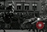 Image of Troops of US 2nd Armored Division parade in Belgian town Hasselt Belgium, 1945, second 4 stock footage video 65675074330