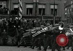 Image of Troops of US 2nd Armored Division parade in Belgian town Hasselt Belgium, 1945, second 5 stock footage video 65675074330