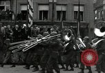Image of Troops of US 2nd Armored Division parade in Belgian town Hasselt Belgium, 1945, second 6 stock footage video 65675074330