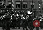 Image of Troops of US 2nd Armored Division parade in Belgian town Hasselt Belgium, 1945, second 7 stock footage video 65675074330