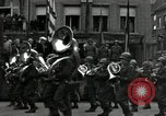 Image of Troops of US 2nd Armored Division parade in Belgian town Hasselt Belgium, 1945, second 8 stock footage video 65675074330