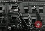 Image of Troops of US 2nd Armored Division parade in Belgian town Hasselt Belgium, 1945, second 11 stock footage video 65675074330
