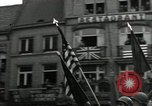 Image of Troops of US 2nd Armored Division parade in Belgian town Hasselt Belgium, 1945, second 12 stock footage video 65675074330