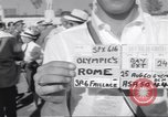 Image of athletes of different countries Rome Italy, 1960, second 3 stock footage video 65675074341