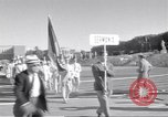 Image of athletes of different countries Rome Italy, 1960, second 4 stock footage video 65675074341