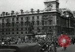 Image of Parliament Square London on Victory in Europe Day London England United Kingdom, 1945, second 2 stock footage video 65675074352