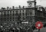 Image of Parliament Square London on Victory in Europe Day London England United Kingdom, 1945, second 3 stock footage video 65675074352