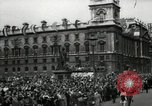 Image of Parliament Square London on Victory in Europe Day London England United Kingdom, 1945, second 4 stock footage video 65675074352