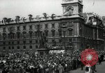 Image of Parliament Square London on Victory in Europe Day London England United Kingdom, 1945, second 5 stock footage video 65675074352