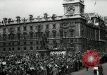 Image of Parliament Square London on Victory in Europe Day London England United Kingdom, 1945, second 6 stock footage video 65675074352