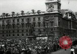 Image of Parliament Square London on Victory in Europe Day London England United Kingdom, 1945, second 7 stock footage video 65675074352