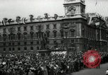 Image of Parliament Square London on Victory in Europe Day London England United Kingdom, 1945, second 9 stock footage video 65675074352