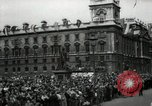 Image of Parliament Square London on Victory in Europe Day London England United Kingdom, 1945, second 10 stock footage video 65675074352