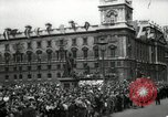 Image of Parliament Square London on Victory in Europe Day London England United Kingdom, 1945, second 11 stock footage video 65675074352